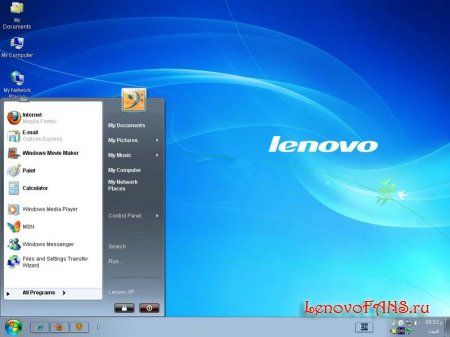 Windows Lenovo XP Seven Style